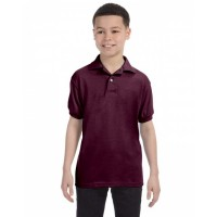 054Y - Youth 5.2 oz., 50/50 EcoSmart® Jersey Knit Polo