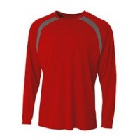 N3003 - Men's Spartan Long Sleeve Color Block Crew Neck T-Shirt