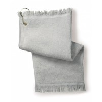 T60GH - FringedFingertip Towel with Corner Grommet and Hook